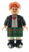 Scottish Wedding Groom Best Man Figure in Green Kilt - Custom Designed Minifigure